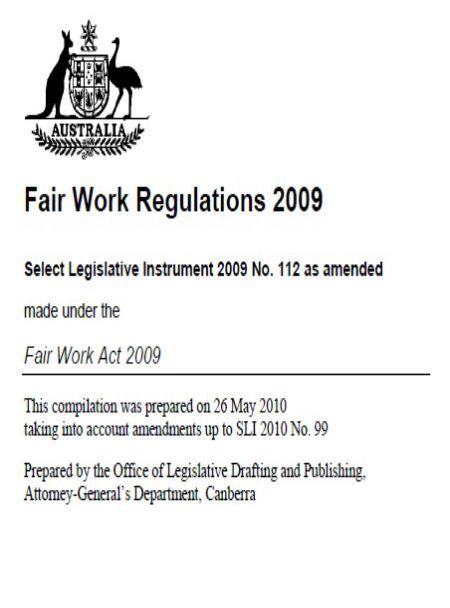 Fair Work Regulations 2009
