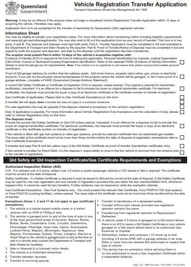 Vehicle Registration Transfer Application