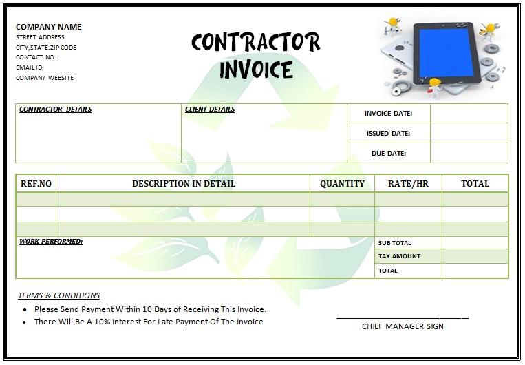 Contractor Invoice Template Australia 10 Free Editable Templates All Down Under