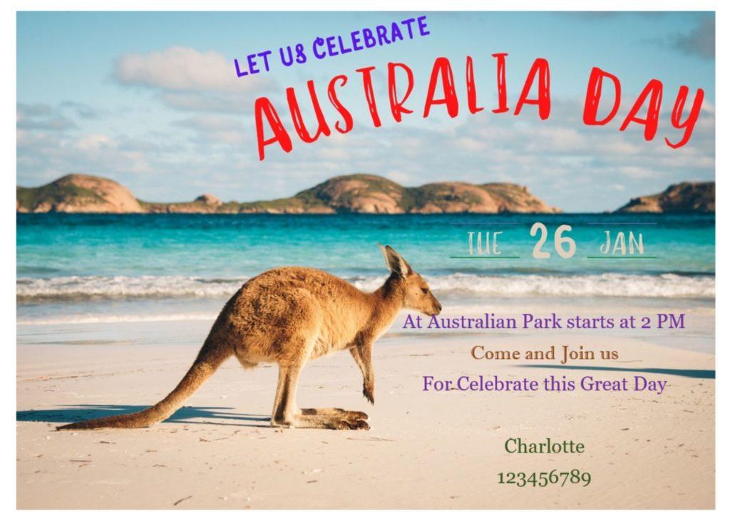 Australian day celebration