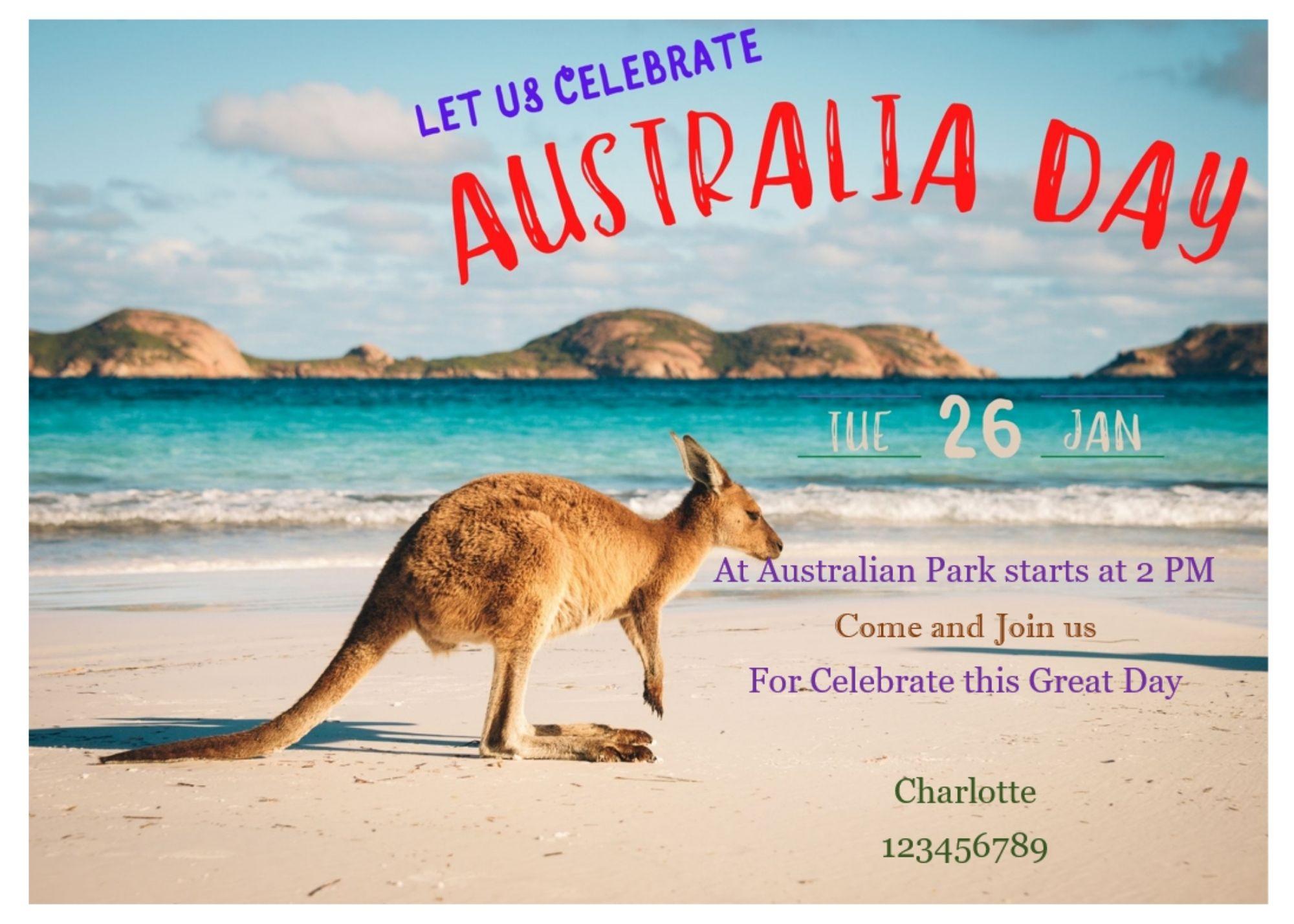 Australia Day Invitation Template