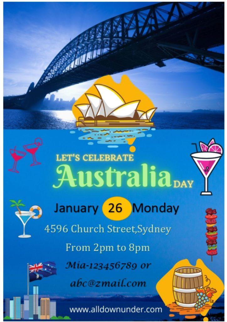 Australia Day Party Invitation