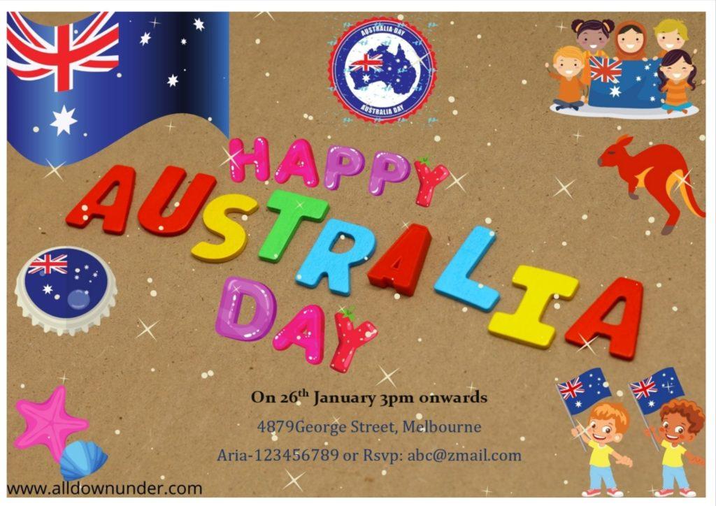 Australia Day Party Invitation Template