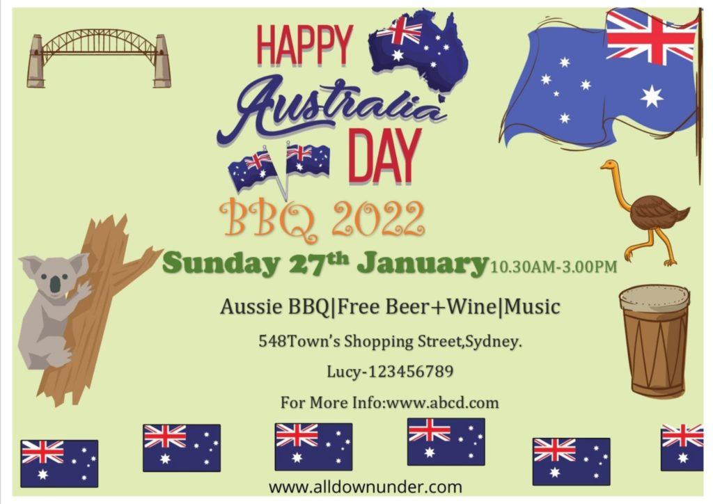 Australia Day  Celebration BBQ