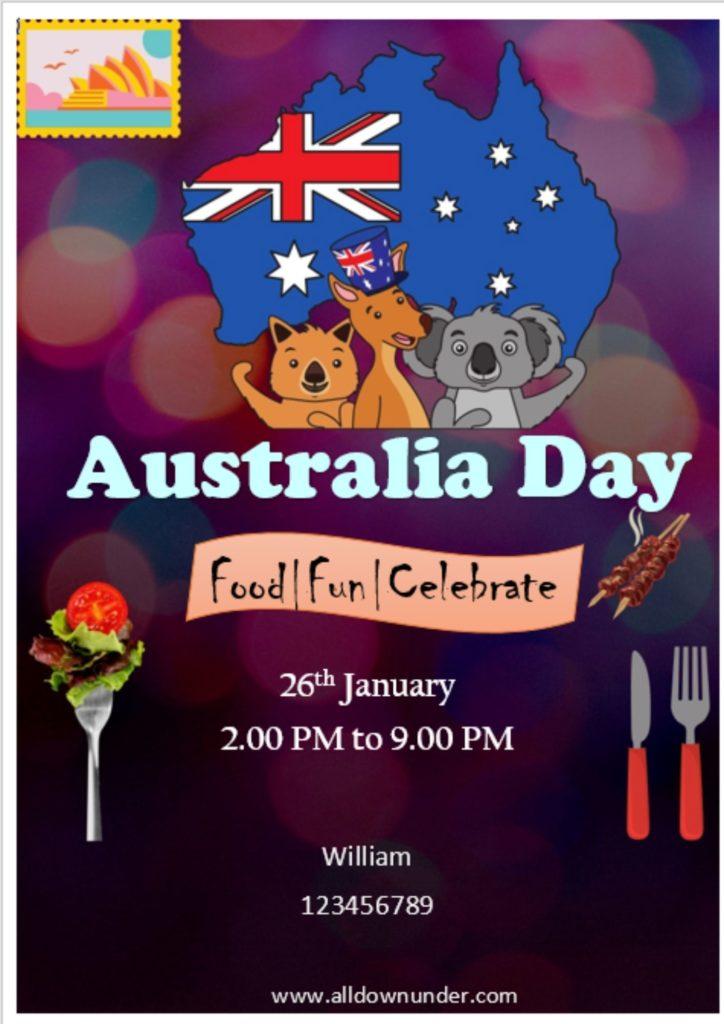 Australia Invitation Template