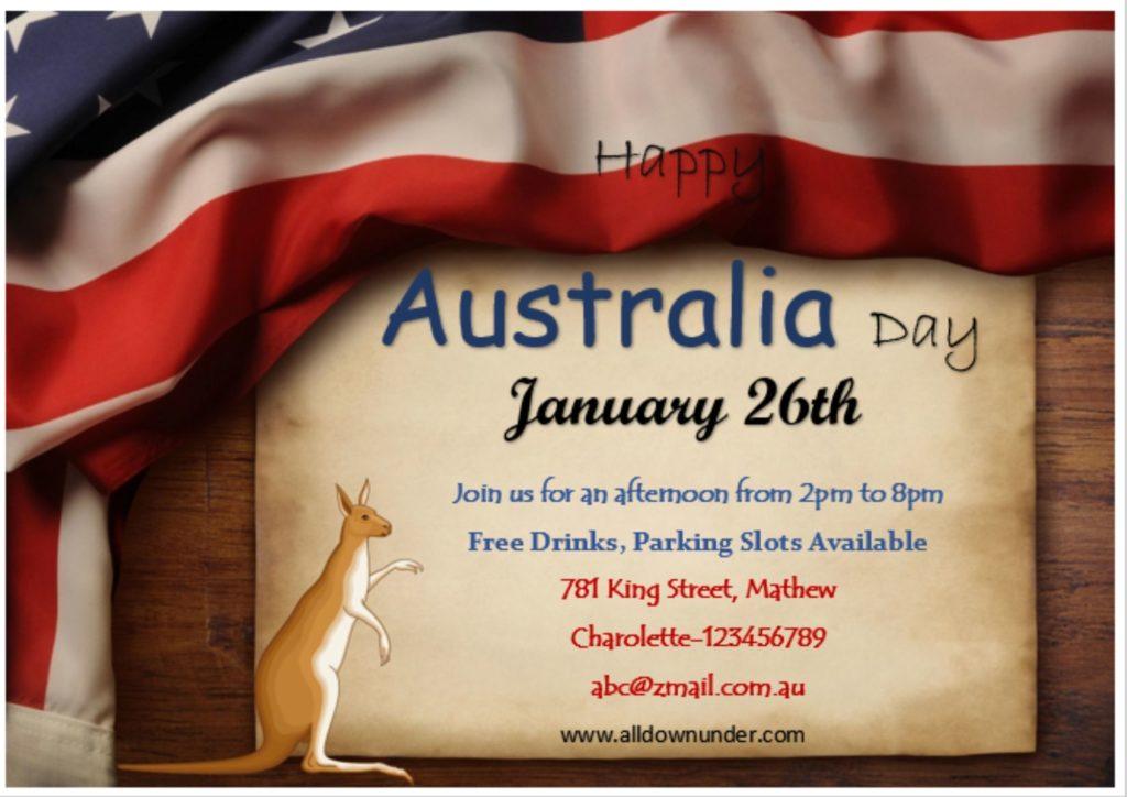 Happy Australia Day Celebration