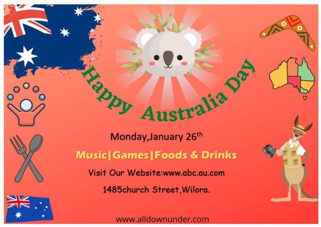 Australia Day Celebration Invitation